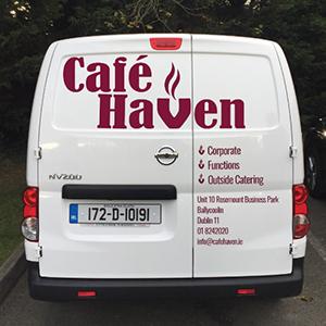 delivery van of cafe haven
