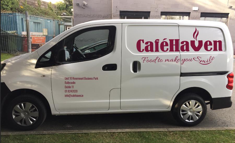 café haven's delivery van